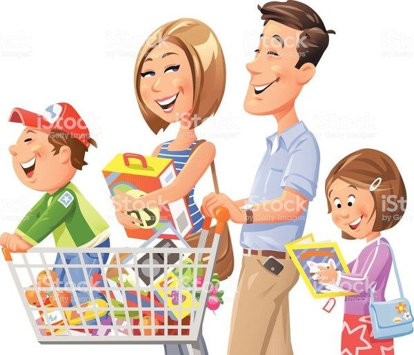 family-shopping-vector-id531097269